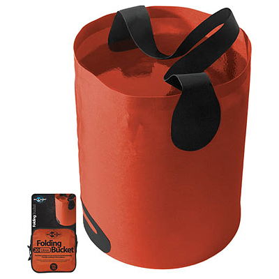 This freestanding collapsible fabric bucket is the ideal solution for storing water in the outdoors. - $36.95