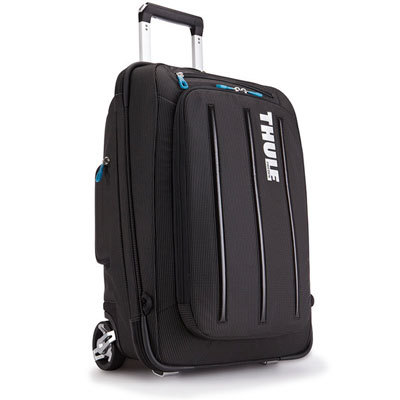 A one-of-a-kind hybrid upright, the Thule Crossover 30 L Rolling Luggage doubles as a backpack with hide-away cool mesh shoulder straps. - $299.95