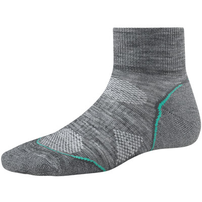 SmartWool's PhD Run Light Mini Socks are great for mild weather and shorter distances. Thanks to ReliaWool Technology in high-density impact zones, these socks are sure to outrun your running shoes. - $10.98