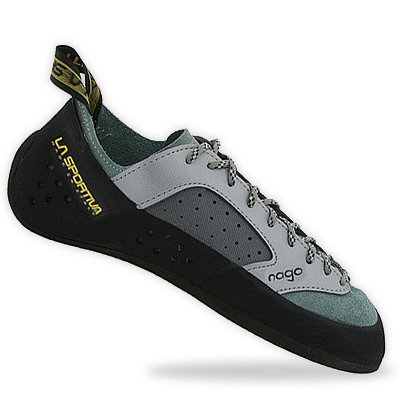 No excuses for not sticking it, the Vibram rubber and great fit of the Italian-made La Sportiva Nago will keep your feet on the edge as long as you can hold. Comfortable too, you can wear them all day, or until you solve that boulder problem. - $99.00