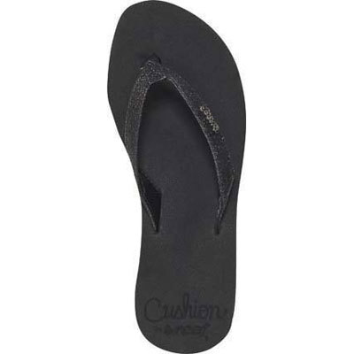 "Add cool sparkle to sultry summer days and nights with Reef's Star Cushion Flip-Flops. The footbed is Reef's softest with ""squeeze me"" cushioning. - $34.00"