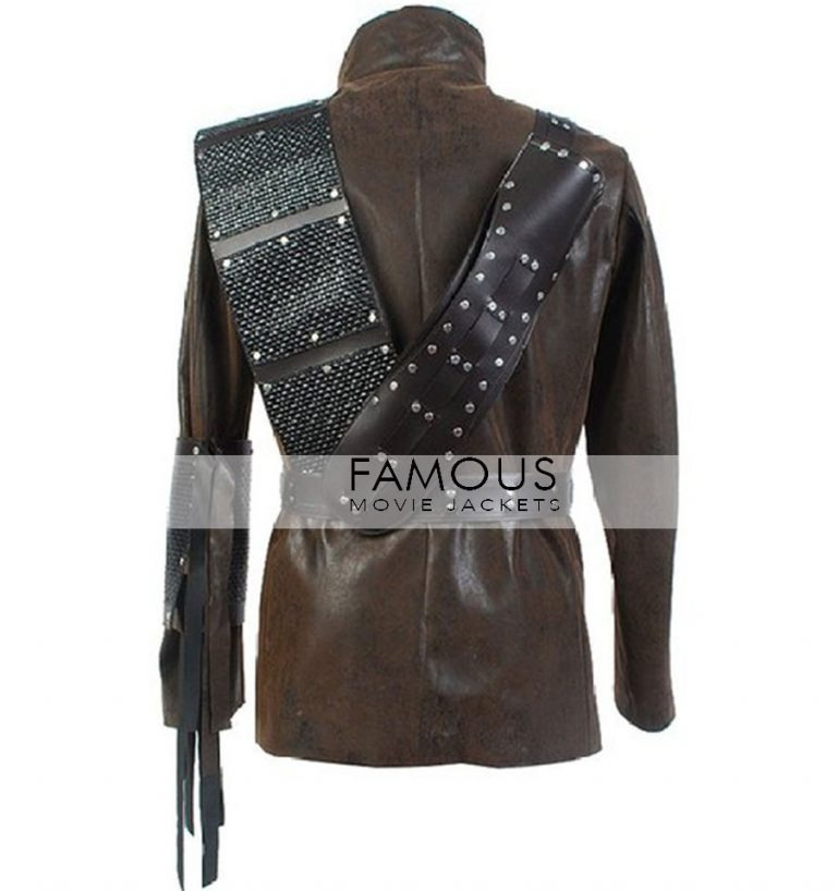 Fishing Arrow Dark Archer (Malcolm Merlyn) Leather Coat