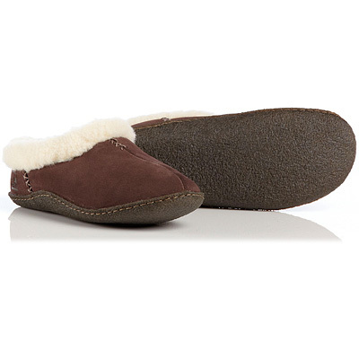 Welcome the warmth and comfort of Sorels inside - the Nakiska slipper combines a wool blend lining with a supportive and contoured EVA footbed to make your feet smile.  A rubber outsole lets you wear them outside to feed the birds. - $52.00