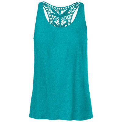 Delicate crocheted detailing adds an artisan-inspired accent to the Laurella, a casual racerback tank from The North Face. - $22.48