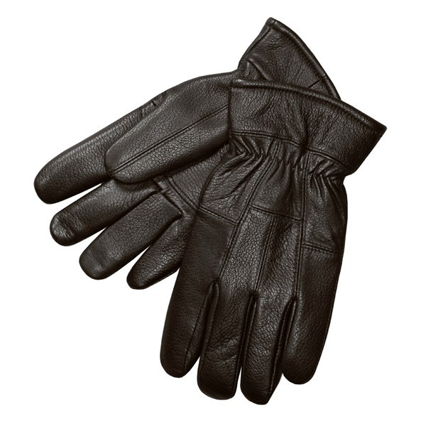 CLOSEOUTS . Deerskin leather gloves from Auclair have an exterior that stays soft in all weather conditions. Available Colors: BLACK, BROWN. Sizes: M, XL, L, S, 2XL. - $8.86