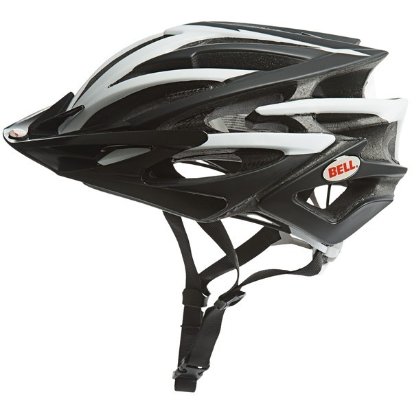 Fitness CLOSEOUTS . Ultralight and supremely ventilated, Bell's Volt bike helmet supercharges your next road or cross-country MBT ride with Streamjet ventilation technology and a Twin Axis Gear fit system that adjusts both horizontally and circumferentially. Available Colors: MATTE WHITE/BLACK JIMBO PHILLIPS, MATTE BLACK/WHITE, MATTE TITANIUM, RED/WHITE, MATTE BLUE/BLACK, BLACK/RED ROCKER. Sizes: S, M, L. - $76.18