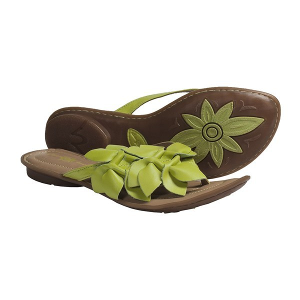 CLOSEOUTS . Crown by Born's Honeysuckle sandals grace your feet with a soft leather upper detailed with intricate floral petals that are as soft as their inspirational counterpart. These handstitched beauties offer more than just adorable looks; they also feature a cushioned footbed that provides all-day comfort and support. Available Colors: BIANCO, LIME, NERO, RAME METALLIC, MORO METALLIC, TEA ROSE. Sizes: 6, 7, 8, 9, 10, 11. - $28.95