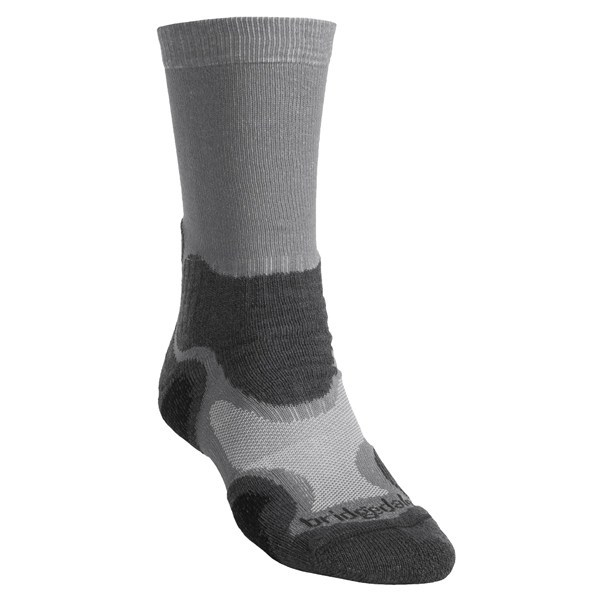2NDS . These light hiker socks from Bridgedale feature moisture-wicking, temperature-regulating merino wool and add cushion in the forefoot and heel for those long days on the trail. Available Colors: GREY/NAVY, GREY/CHARCOAL, GREEN. Sizes: M, L, XL. - $7.46