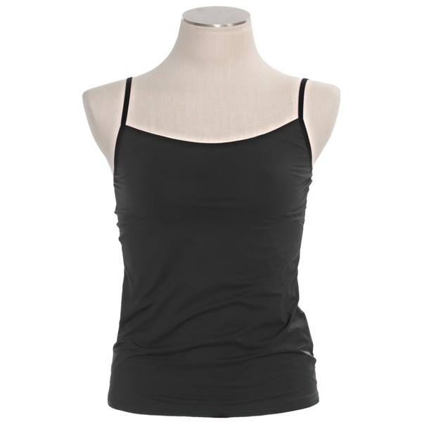 CLOSEOUTS . Camisole perfection. Calida's Intimacy tank top is a single-jersey nylon with a silky, lightweight hand. Available Colors: ASTRAL BLUE, CRIMSON, SHELL WHITE, BLACK, RED VIOLET. Sizes: XS, S, M, L. - $24.95