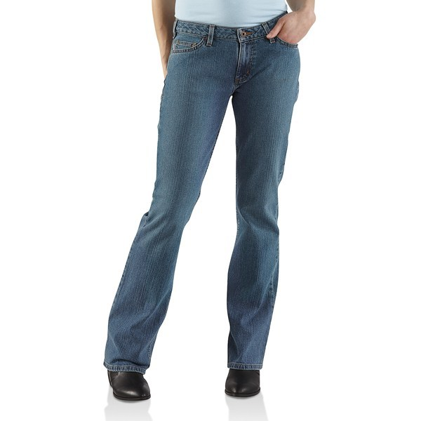 2NDS . Got hips? Carhartt's curvy-fit basic jean fits like a dream and the contoured waistband eliminates back gap. Available Colors: FADED BLUE INDIGO, BLACK, DARK NIGHT, VINTAGE INDIGO. Sizes: 2, 4, 6, 8, 10, 12, 14, 16, 18, 20. - $23.76