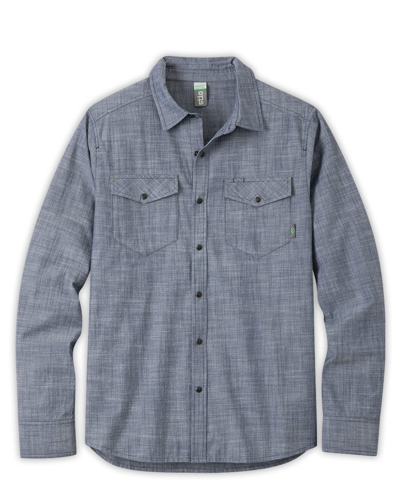 The original blue-collar fabric, chambray is interwoven with high range history due to its tough, durable character and constant use in rugged, outdoor environments. Long a work-shirt staple of the mountain west, our modern woven take adds a texture of ranch heritage with sawtooth flap-closure pockets, pearl snaps and a western back yoke. - $129.00