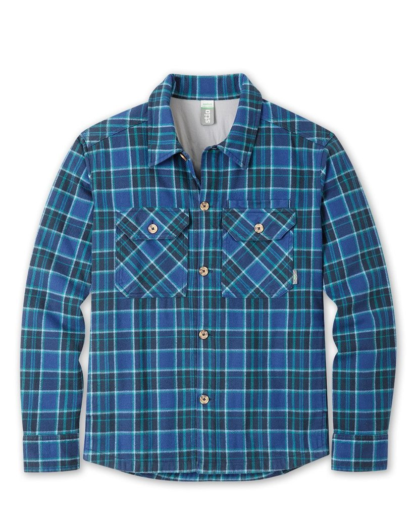 An overshirt that hangs tough and draws backwoods character from double-brushed 300-gram organic cotton flannel in a custom StioA(R) yarn-dye plaid. - $139.00