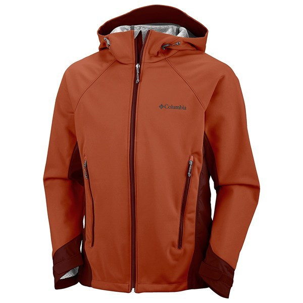 CLOSEOUTS . Designed for aerobic activities in inclement weather, Columbia Sportswearand#39;s Triteca Omni-Heatand#174; soft shell jacket combines three sensational technologies to block wind, retain body heat and rapidly move moisture away from skin. Available Colors: SANGUINE. Sizes: S, M, L, XL, 2XL. - $115.64