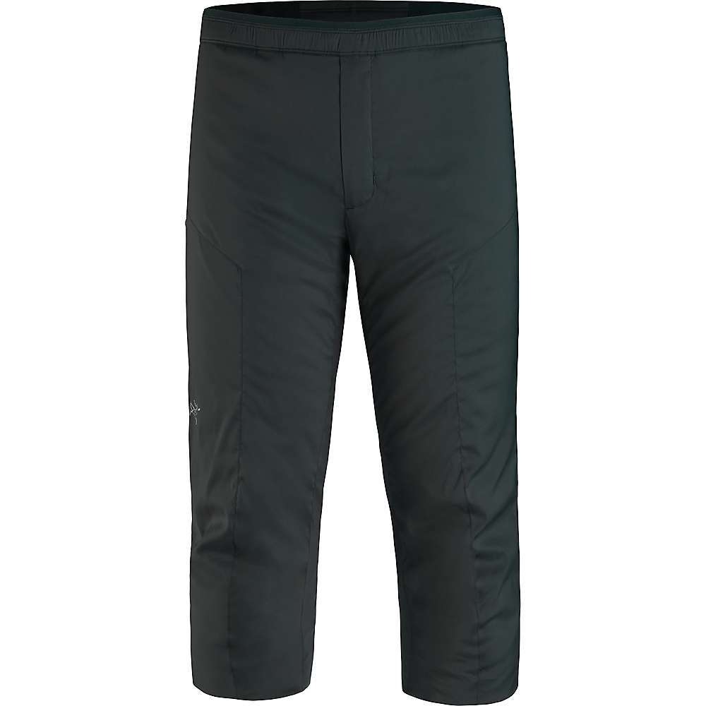 The Arc'teryx Men's Axino Knicker is an Insulation layer for skiing and SnowBoarding. Knicker-style won't get in the way of your ski or SnowBoard boots, preventing bunching while offering Coreloft Continuous Insulation for warmth from hip to calf. Ideal for layering, the Permeair nylon lining and Fortius Air 40 Softshell exterior offer a smooth on and off over layers plus breathability so you won't overheat. Pull on, zip a snack into the zippered pocket, then add shell pants over top. Ready for the mountain. Features of the Arcteryx Men's Axino Knicker Low profile knicker layers to create an insulated system Elasticized waistband with drawcord for a precise Fit Boot cut knicker sits above the boot tops Fortius Air 40 outer fabric with DWR treatment layers easily and effectively balances air permeability with wind and water resistance Highly hydrophobic, continuous filament Coreloft Continuous 65 Insulation and Permeair 20 Fabric Details Fortius Air 40 Coreloft Continuous 65 (65g/m2) Permeair 20 Torrent 190 - $199.00