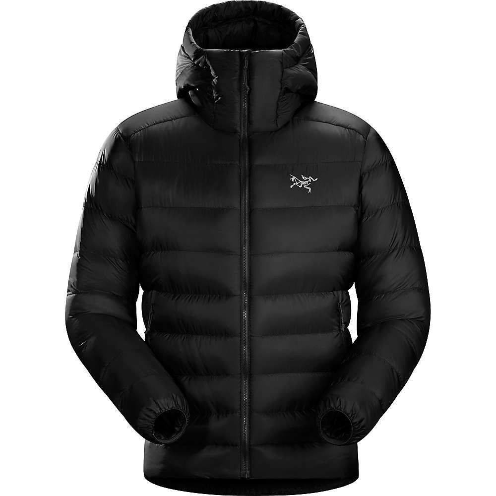 The Arc'teryx Men's Cerium SV Hoody is a lightweight and packable winter jacket made to protect you from the extreme cold. Down Composite Mapping places synthetic Coreloft Insulation in moisture-prone Areas and then sandwiches lofty 850-fill goose down between a layer of Coreloft for serious warmth and enhanced wet-weather Performance. This jacket is built to withstand heavy winds and light precipitation as a standalone layer, and the Slim profile makes it a comfortable midlayer underneath a shell when severe weather strikes. The included stuff sack compresses the jacket to little more than the size of a Nalgene, making it an easy layer to carry on backpacking, skiing, mountaineering or Climbing adventures. Features of the Arcteryx Men's Cerium SV Hoody Arato 10 with DWR repels moisture Down Contour baffles enhance loft Down Composite Mapping strategically places down and synthetic Insulation Down Contour Composite in the cuff and shoulders Uses Coreloft to shield the down from moisture Down insulated StormHood with Cohaesive cordlock adjusters No Slip Zip main opening, two hand pockets Internal zippered pocket with stuff sack Elasticized cuff; hem drawcord Fabric Details Arato 10 G?? 100% Nylon shell fabric Arato 7 G?? 100% Nylon liner fabric 850 Fill European grey goose down (162g - M) Coreloft 80 and 140 Insulation - $575.00