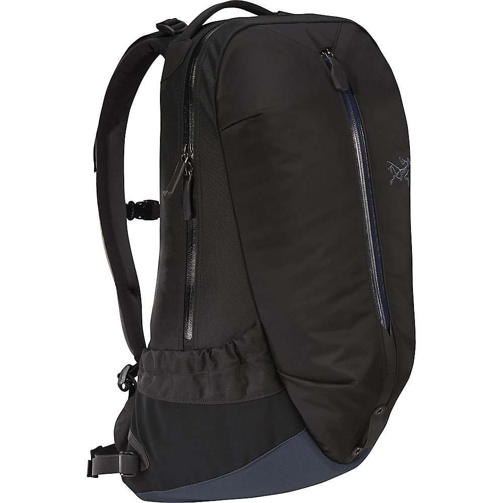 "The Arc'teryx Arro 22 Backpack is a lifestyle pack for the daily coming and going. At just 22 liters, it offers space for hauling the essentials without weighing you down too much. Carry a 15"" laptop in the padded sleeve when jumping on the subway or when headed on a plane ride. When it's the weekend, remove any books and electronics and toss a hydration reservoir in instead for a day hike. Features of the Arcteryx Arro 22 Backpack Hybrid construction strategically utilizes weather resistant and durable nylon fabrics Large kangaroo pocket and external pockets for accessible storage Padded 15in. laptop sleeve WaterTight external zippers with custom zipper pulls Hydration bladder compatible Elevated back panel for a comfortable carry - $239.00"
