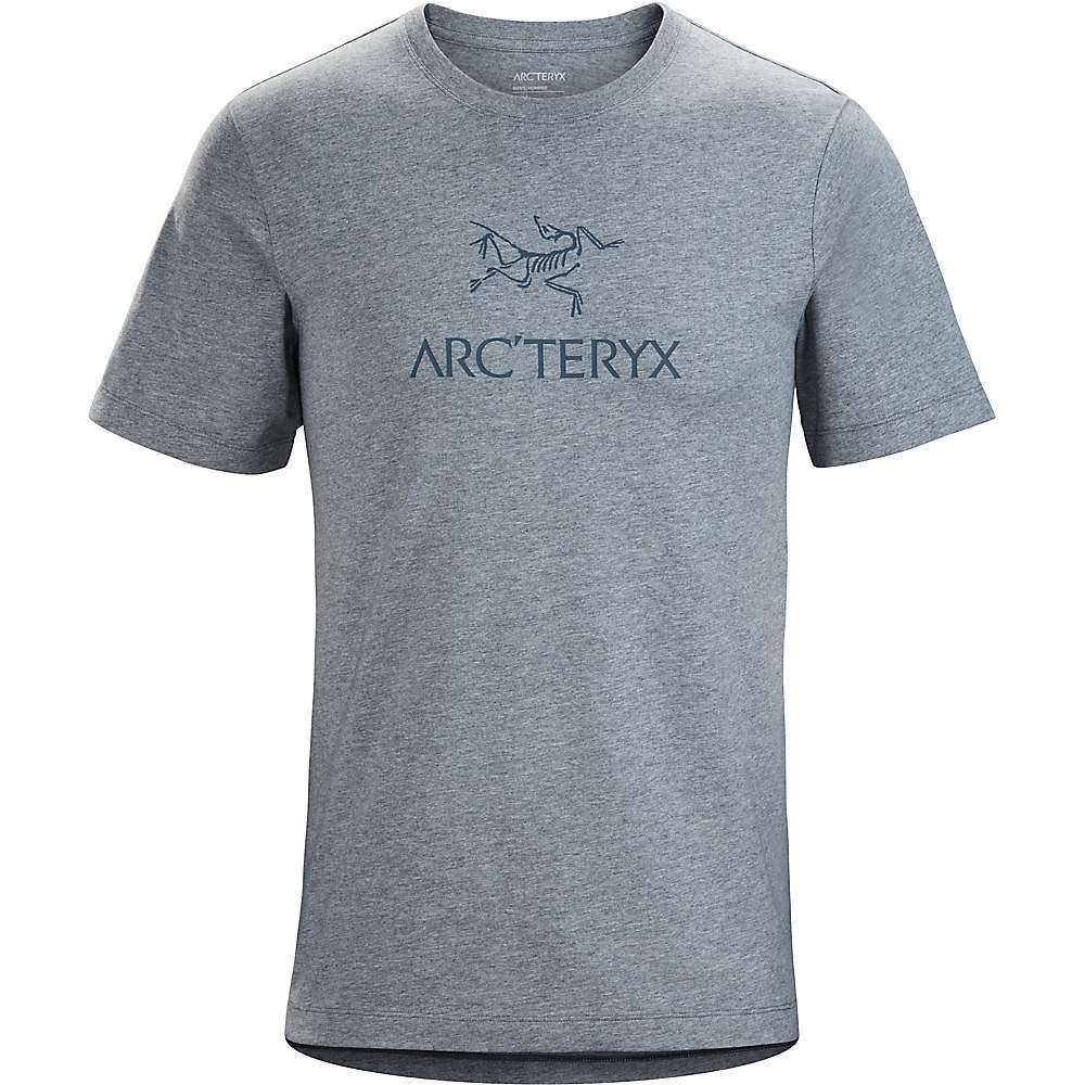 The Arc'teryx Men's Arc'Word SS T-Shirt is an organic cotton tee with the logo you crave. The name Arc'teryx across the chest with the trusty Archaeopteryx lithographica over top. Designed for your off days, so kick back and relax when at home or around town. Features of the Arcteryx Men's Arc'Word Short Sleeve T-Shirt Bio-washed for softness and longevity - $35.00