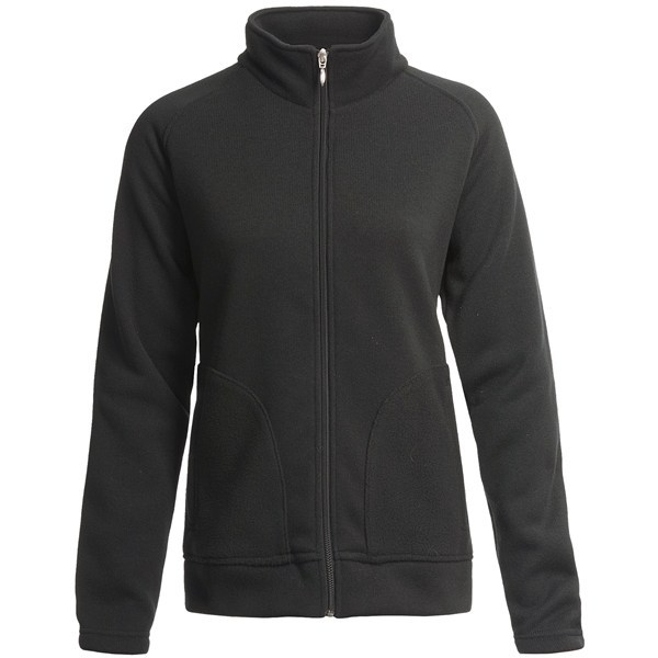 CLOSEOUTS . Unlike the other fleeces in your closet, Descente's mid-layer fleece has a knitted, sweater-like texture that gives it structure and shape -- a terrific layer under your ski shell or on its own during coolish days. Available Colors: BLACK. Sizes: XS, S, M, L, XL, 6, 8, 10, 12, 14. - $21.81