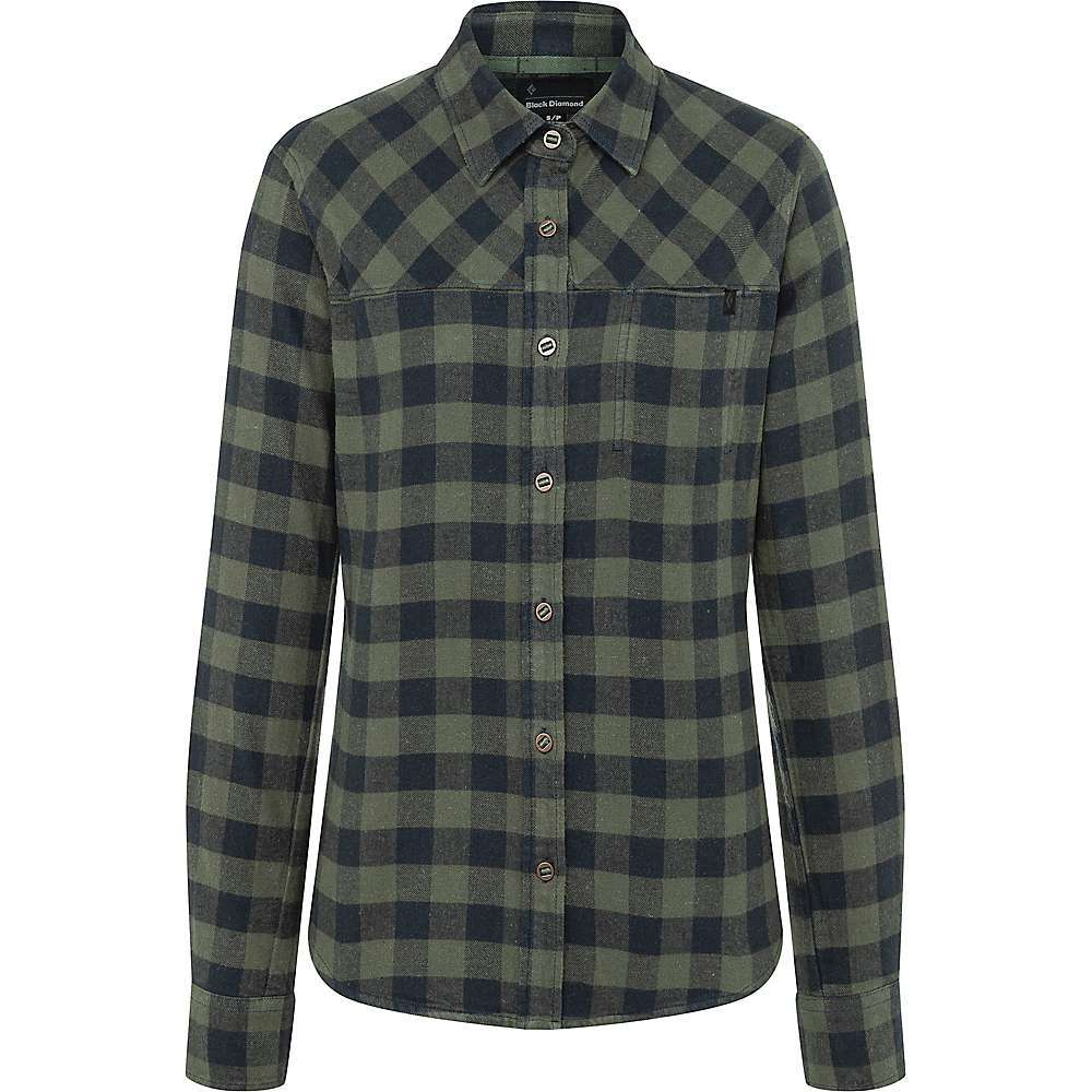 Features of the Black Diamond Women's Spotter Long Sleeve Flannel Shirt Button front Underarm gussets for added range of motion Organic cotton-hemp blend Fabric Details 85%Organic Cotton, 15%Hemp - $84.95