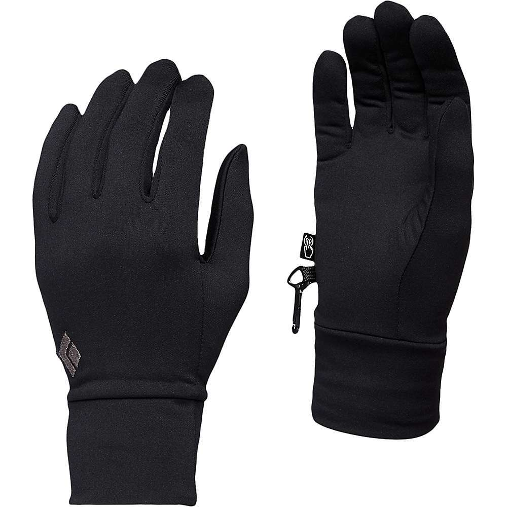 Features of the Black Diamond LightWeight Screentap Glove 218 g stretch-fleece on back of hand with nylon on the face for durability and polyester next to skin for comfort 218 g U/R Powered conductive material on palm and fingers for gloves-on touchscreen use DWR treated fabric - $29.95