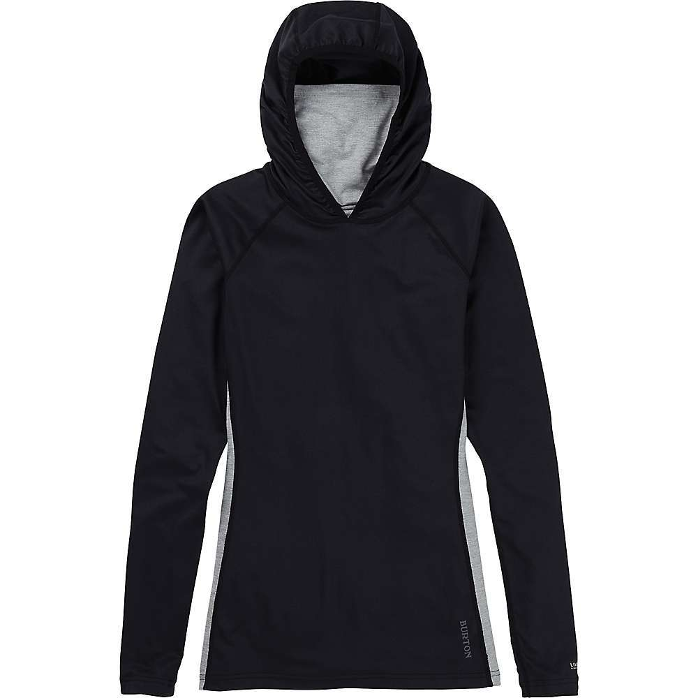 Features of the Burton Women's Midweight X Base Layer Long Neck Hoodie Close to the body, with room for the garment to move Midweight 200 living lining provides consistent temperature regulation without adding bulk or weight Four-way stretch fabrication for enhanced mobility Fitted, attached mfi-compatible scuba hood with stretch binding Quick-drying and Highly breathable Bluesign approved non-biocidal finishes keep odors at bay Chafe-free softlock seams for added comfort Bluesign approved materials use only safe chemicals and reduce impact on both humans and the planet during manufacturing - $84.95