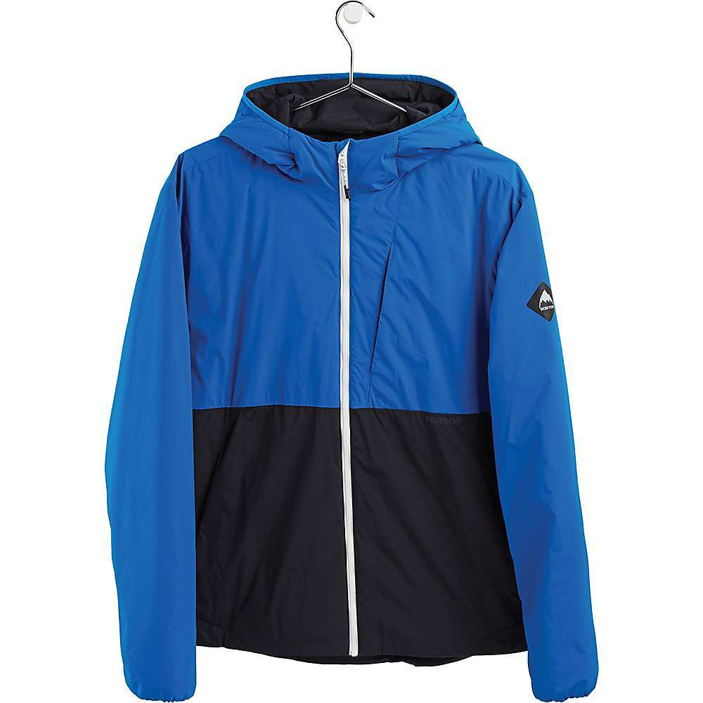 Features of the Burton Men's Multipath Hooded Insulated Jacket Close to the body, with room for the garment to move Dryride mist-defy dwr fabric repels water while staying soft, stretchy and comfortable Low-bulk thermolite (60g) Insulation Uses 40% recycled material to trap warm air and Features a larger surface Area to boost moisture evaporation, pit zip vents Attached hood with stretch binding at opening Drop hem for extended length and added coverage, drawcord cinch at hem D-ring, elasticized cuffs, reflective details Zippered chest pocket, zippered microfleece hand-warmer pockets and removable bag with sling attachment Bluesign approved materials use only safe chemicals and reduce impact on both humans and the planet during manufacturing - $149.95