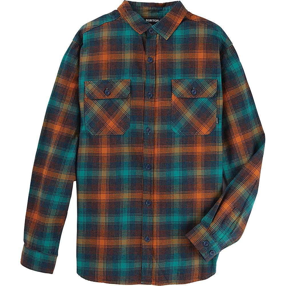 Features of the Burton Men's Brighton Flannel Shirt 100% Cotton flannel build supplies your daily dose of comfort and durabilty Standout patterns and premium design make for a versatile classic that vibes toward the contemporary Chest pockets and button-up character complete the look Chest pockets with button closure Center front button closure Fabric Details 100% Cotton flannel densely woven for durability and washed for added softness - $69.95