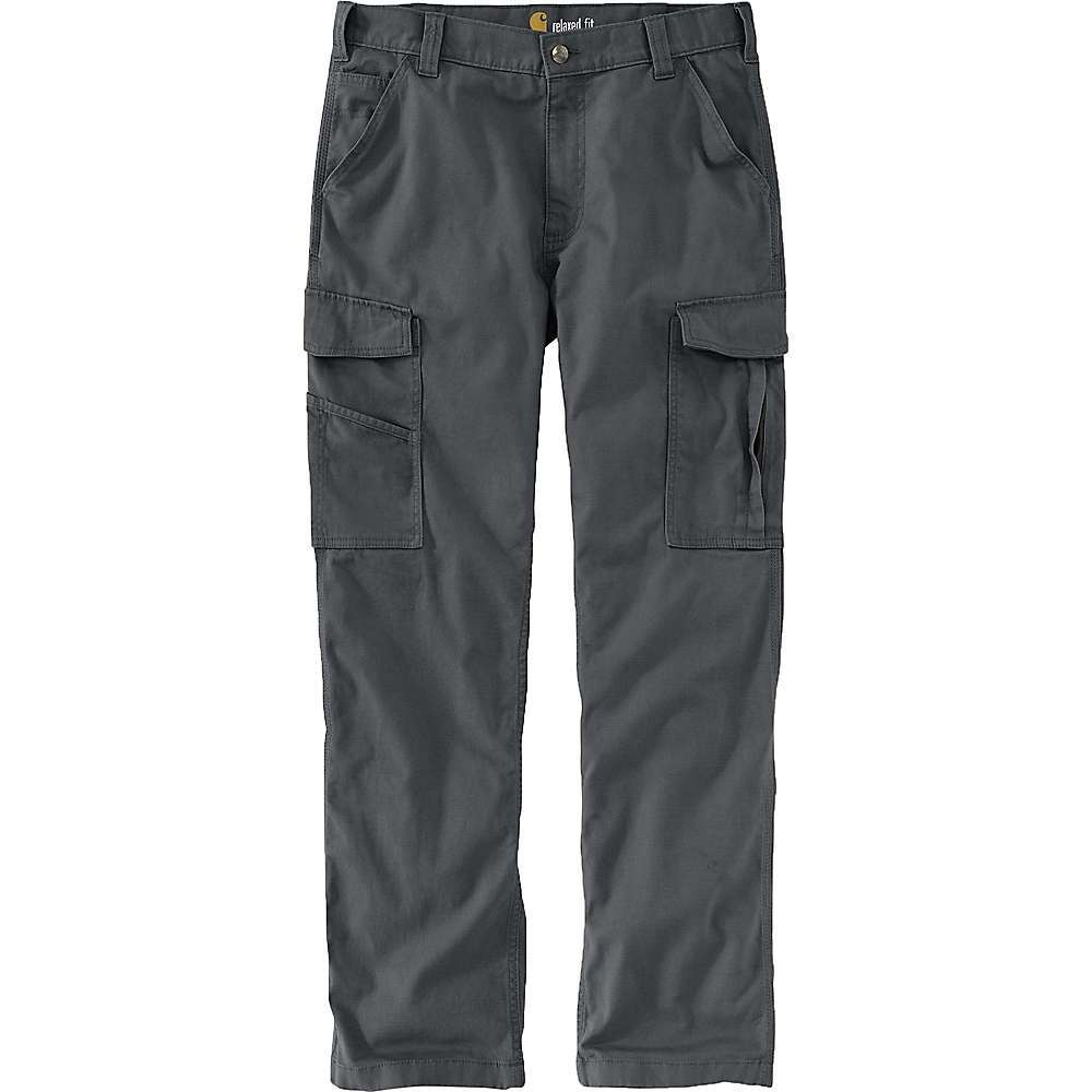 The Carhartt Men's Rugged Flex Rigby Cargo Pant is a straight leg work pant that helps you hold onto the tools of the trade. The cargo pockets feature hidden hook and loop closures to keep your stuff secure and additionally, the left leg has a utility pocket and the right leg has a cell phone pocket. The midweight cotton canvas is Highly abrasion-resistant and Features a bit of stretch for enhanced mobility. Features of the Carhartt Men's Rugged Flex Rigby Cargo Pant Rugged flex durable stretch Technology for ease of movement Comfortable Fit through the seat and tHigh with room to move Right-leg cargo pocket with secure cell phone storage Left-leg cargo pocket with utility pocket Hidden hook and loop closures on cargo and back pocket flaps Stronger sewn-on-seam belt loops Fabric Details 98% Cotton, 2% Spandex Canvas - $49.99