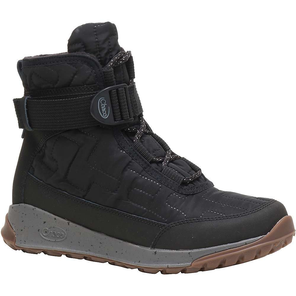 The Chaco Women's Borealis Quilt Waterproof Boot is an insulated boot for winter days. The quilted Upper Features a water resistant nylon to protect the Insulation, with a lace-up style finished with a jacquard strap. The Luvseat Dual Density Footbed offers cushion when walking and a non-marking ChacoGrip Outsole provides connection to the ground. The 3mm lugs provide traction on Snowy walkways, so you can zip around town for coffee or just straight into work. Features of the Chaco Women's Borealis Quilt Waterproof Boot Water resistant nylon Upper with custom embossed quilt pattern and polyester jacquard strap Seam-sealed waterproof construction Waterproof coffee based charcoal fleece lining releases heat back to the body and provides natural anti-odor/anti-microbial properties Biomechanically designed Luvseat(TM) Dual Density EVA Midsole with 10% recycled content for superior Fit without separate Footbed Non-marking ChacoGrip(TM) rubber compound 3 mm lug depth - $129.95