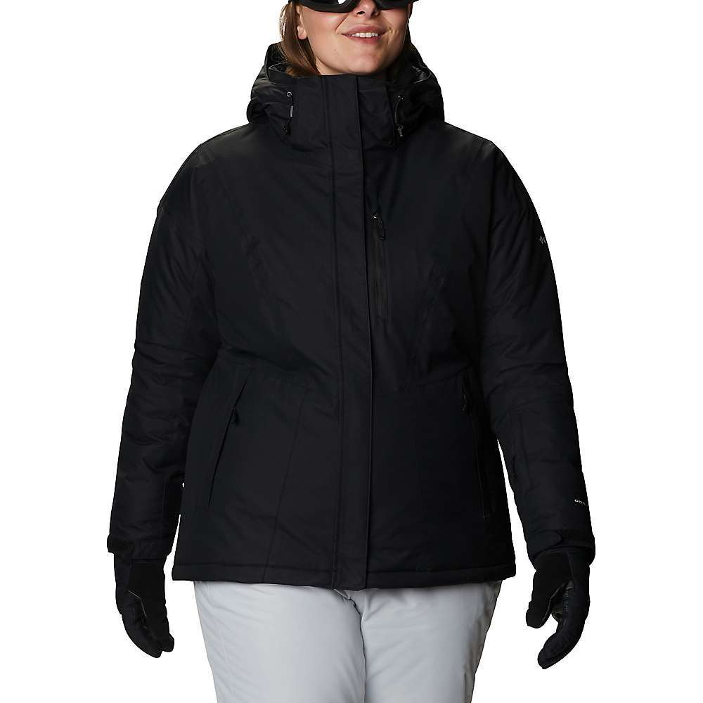 Features of the Columbia Women's Last Tracks Insulated Jacket Omni-Tech waterproof/breathable critically seam sealed Omni-Heat thermal reflective Removable, adjustable hood Adjustable, snap back powder skirt Zippered chest pocket Ski pass pocket Interior security pocket Goggle pocket Zippered hand pockets Comfort cuffs Drawcord adjustable hem Drop tail Internal key clip Fabric Details Omni-Tech generation dobby 100% Nylon - $174.95