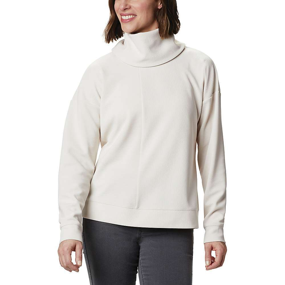 Features of the Columbia Women's FirWood Ottoman Pullover Comfort stretch Fabric Details 97% Polyester, 3% Elastane ribbed ottoman knit - $69.95