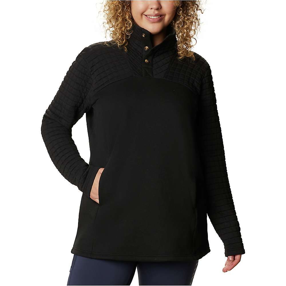 Features of the Columbia Women's Sunday Summit II Tunic Comfort stretch Hand pockets Fabric Details 56% Cotton, 42% Polyester, 2% Elastane - $64.95