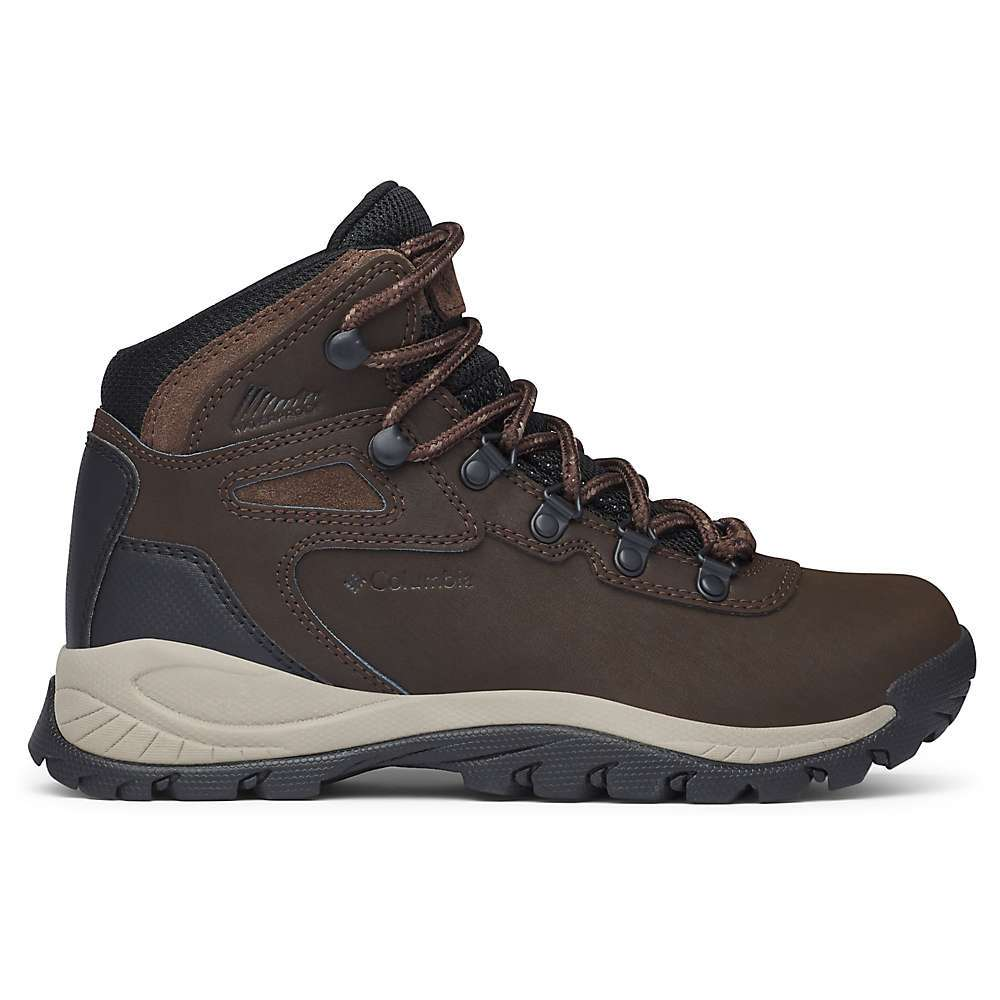 The Columbia Women's Newton Ridge Plus Boot is a waterproof hiking boot with vintage mountaineering style. The leather Upper provides excellent protection and durability, and the mid-cut profile offers support and stability. A lightweight Techlite Midsole cushions your every step to keep you comfortable for longer out on the trails.  Features of the Columbia Women's Newton Ridge Plus Boot A durable and lightweight hiking boot designed for a variety of outdoor activities Breathable mesh textile leather Upper Waterproof seam-sealed construction Hook and loop closure system TechLITE lightweight Midsole for long lasting comfort, superior cushioning and High energy return Omni-GRIP non-marking traction rubber - $89.95