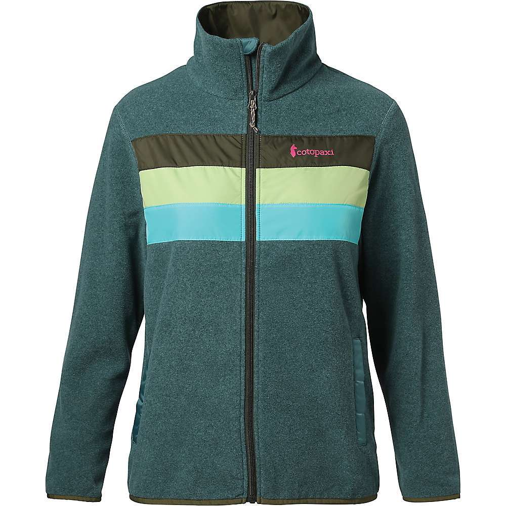 Features of the Cotopaxi Women's Teca Fleece Full-Zip Jacket Repurposed fleece and taffeta Limited edition colorways Elastic binding hem and cuffs 2 hand pockets - $100.00