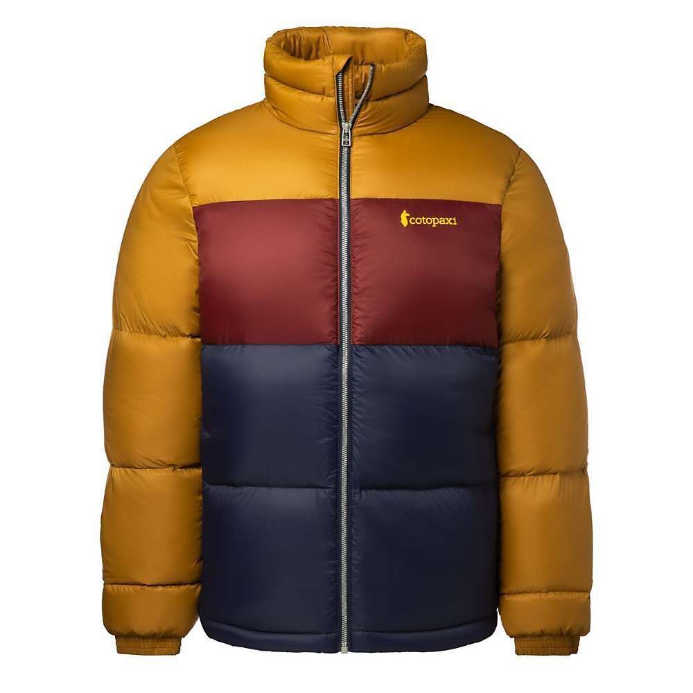 The Cotopaxi Men's Solazo Down Jacket is a puffy jacket for casual wear to the office, cabin and cold places. If it's cold, bring this along and you'll no only look dashing in the retro style, but stay warm without having to lug around extra weight. The 650 fill power down is encased by 20D giant-ripstop nylon which is treated with a durable water repellent finish to shed light Snows. You stay warm, it's versatile for a variety of adventure and there Are zippered pockets so you won't lose your small gadgets and trinkets. Features of the Cotopaxi Men's Solazo Down Jacket 650-fill responsibly sourced down 2 zippered hand pockets Internal zippered chest pocket Shell and lining made of 20D giant-ripstop nylon w/ DWR finish - $220.00