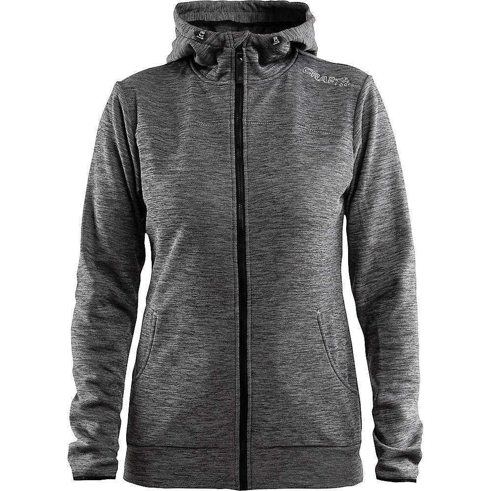 Features of the Craft Women's Leisure Full Zip Hood Jacket Wind-protective fabric that keeps you warm in cool and windy conditions Elastic fabric that moves with the body for optimal freedom of movement Soft and comfortable against your skin Hood with drawcord and two pockets - $99.95