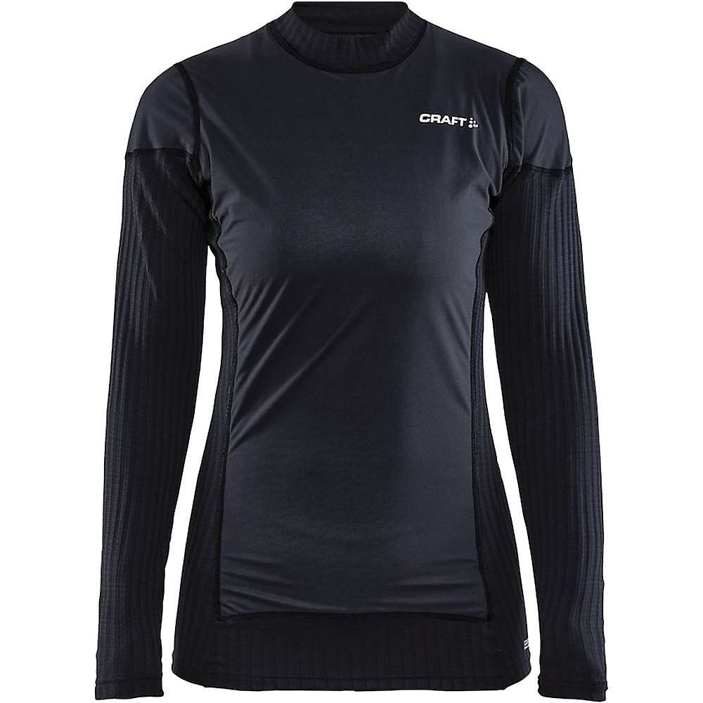 Features of the Craft Women's Active X Wind Long Sleeve Thin, lightweight and elastic fabric that is channel-knitted to trap air and provide warmth Coolmax-Air fiber against the skin enhances cooling and moisture transport Flatlock seams that follow body movements Elastic windprotection panels at front body and shoulders Product is made with SeaQual polyester that is produced from recycled plastic from the ocean Fabric Details 40% Polyester SeaQual 39% Polyester Coolmax 21% Polyester-Recycled - $99.95