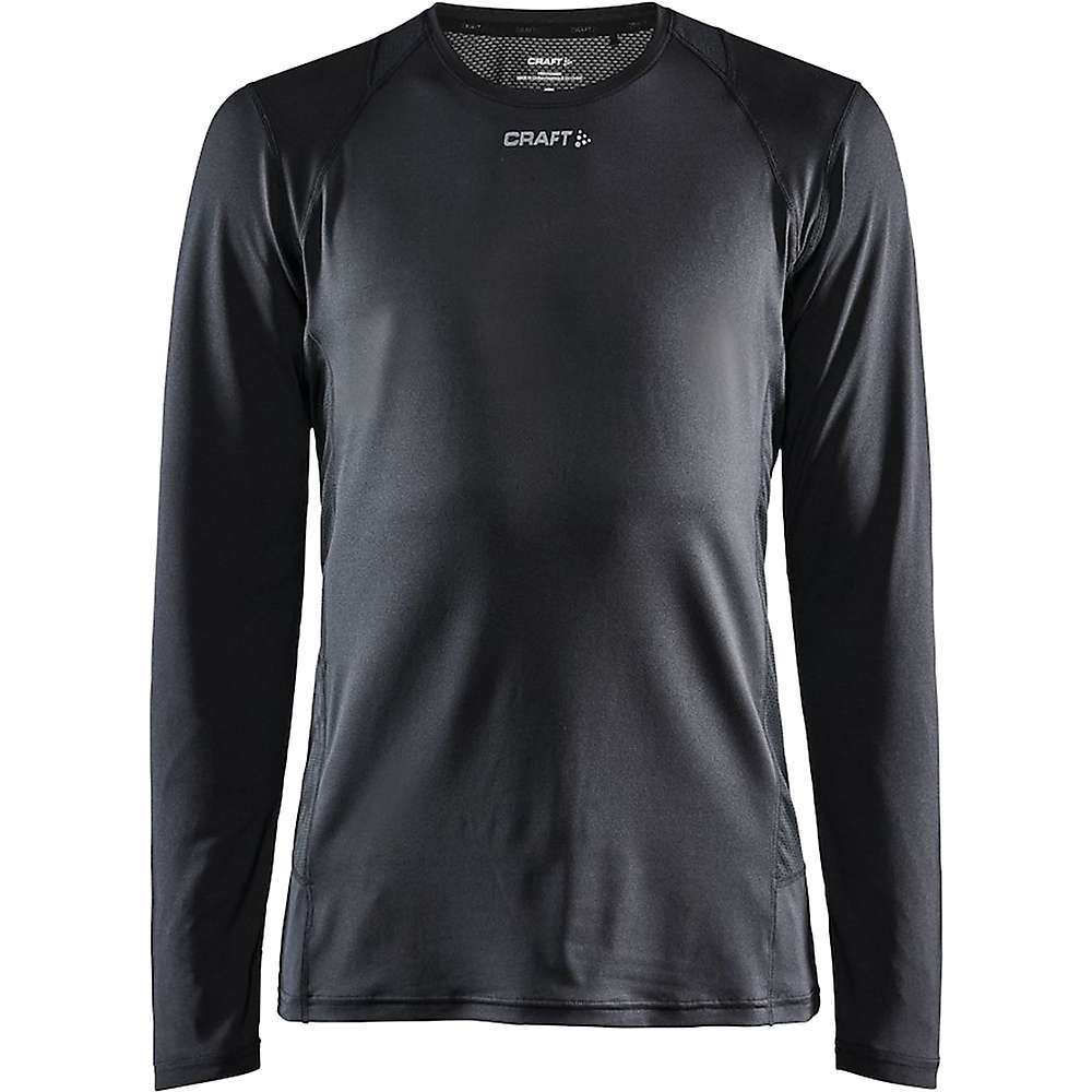 Features of the Craft Men's ADV Essence Long Sleeve Tee Soft polyester jersey with mesh details for good moisture transport Concealed zipper pocket at right side Regular Fit Craft logo at front Six dots logo at back Fabric Details 93% Polyester-Recycled 7% Elastanee - $59.95