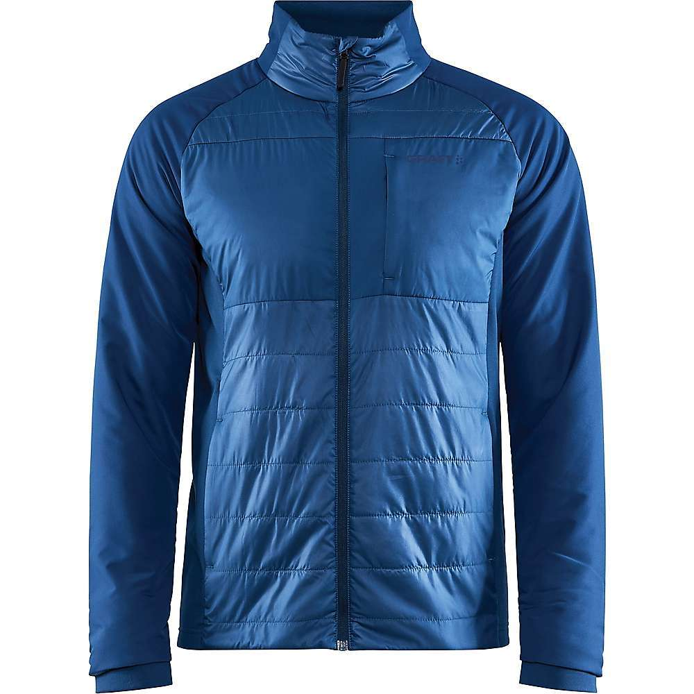 Features of the Craft Men's ADV Storm Insulated Jacket DWR Wind and water-resistant polyester at body and sleeves Light 40 GSM padding at body and sleeves Quilted semi dull polyester fabric at front and back Recycled dull polyester rip stop at sleeves Recycled brushed jersey at sides for optimal ventilation Two side pockets with zips Elastic jersey at sleeve endings for snug Fitting Brushed jersey inside collar for comfort to skin Fabric Details 100% Polyester - $129.95