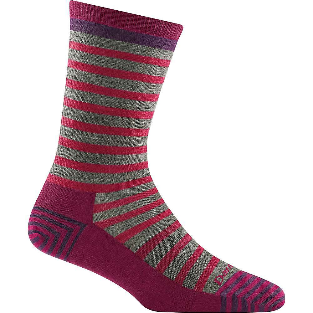 Features of the Darn Tough Women's Morgan Lightweight Crew Sock Performance Fit: No slipping, no bunching and no blisters Fine Gauge Knitting: Unprecedented durability and the unique in. put it on, forget it's onin. feel Fast Action Wicking: Pulls moisture away from skin All Weather Performance: Cool in the summer, warm in the winter Naturally Antimicrobial: Repels bacteria and odor Guaranteed For Life: No strings no conditions for life Merino Wool: Ultimate fiber for breathability and comfort in all conditions True Seamless: Undetectable seam fusion for an ultra smooth, invisible feel Light: Built light, darn comfy and super strongG??substantial construction for a lightweight, sure Fit Crew Sock Height: A classic, versatile height that hugs the calf Fabric Details 63% Merino Wool, 34% Nylon, 3% Lycra Spandex - $15.71