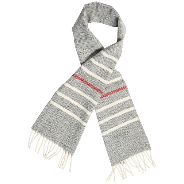 CLOSEOUTS . The midweight merino wool of Faribault Woolen Mill Co.and#39;s Thin Stripe 60andquot; scarf is not only a great insulator for winter, but a stylish choice with any wardrobe. Available Colors: GREY MULTI, GOLD MULTI, LINEN MULTI. - $19.95