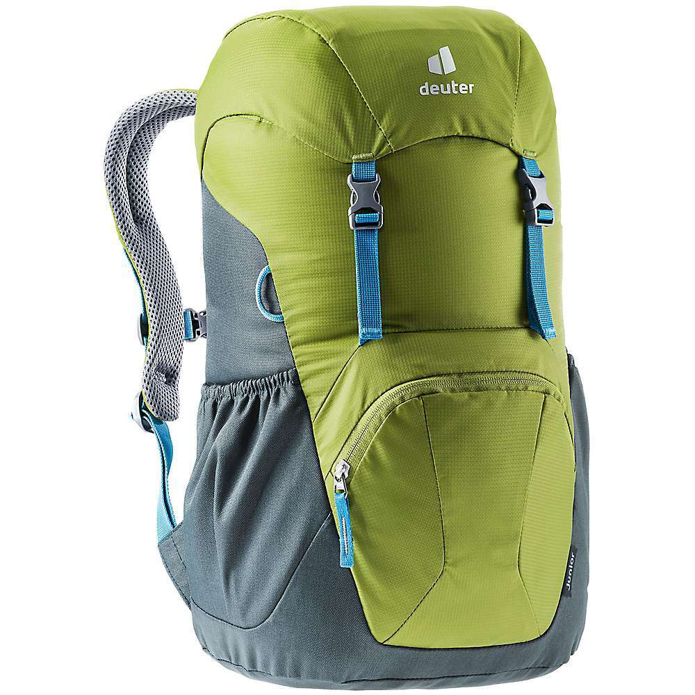 Features of the Deuter Kids' Junior Backpack Comfort through S-shaped Soft-Edge shoulder straps Child-friendly buckles Zipped front pocket Airstripes backsystem Adjustable chest strap Mesh side pockets Fabric Details 85% Polyester, 15% Nylon - $35.96