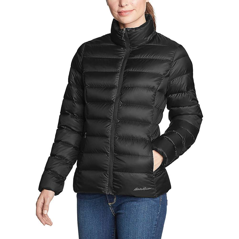 Features of the Eddie Bauer Women's Cirruslite Down Jacket StormRepel DWR finish sheds moisture 650 Fill responsible down standard (RDS) down Secure zip side pockets Higher neck for extra warmth Average length: Reg 25in. Fabric Details 100% Nylon - $59.37