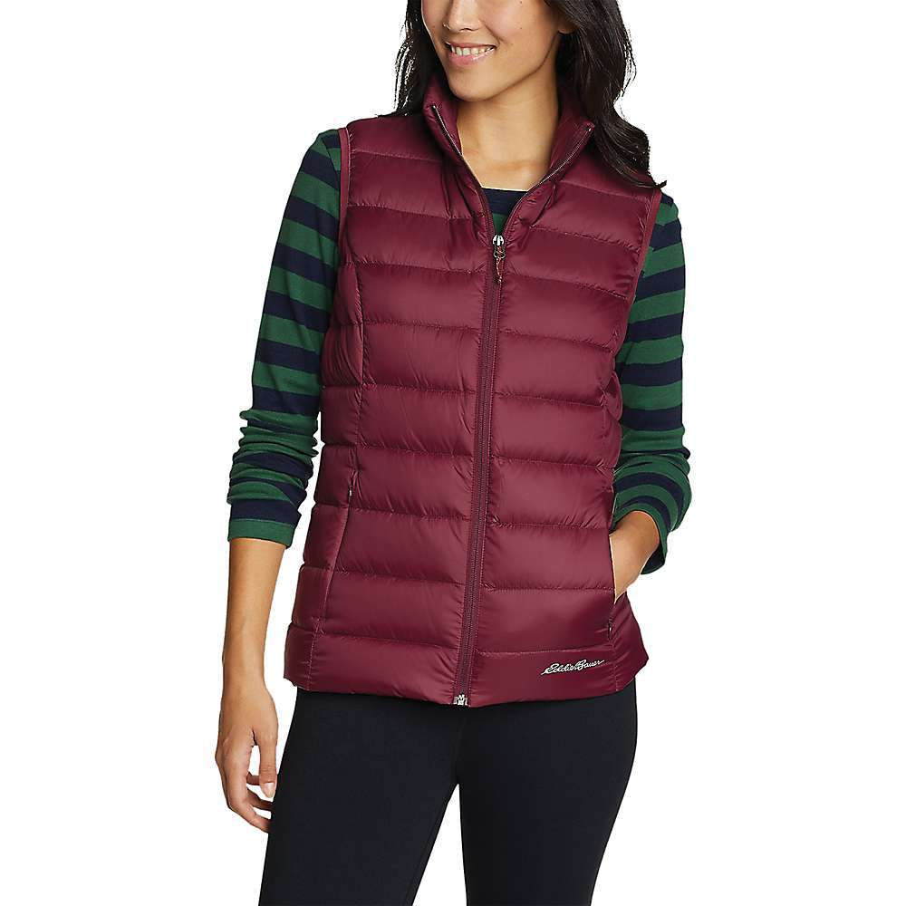 Features of the Eddie Bauer Women's Cirruslite Down Vest StormRepel DWR finish sheds moisture 650 Fill responsible down standard (RDS) down Secure zip side pockets Higher neck for extra warmth Fabric Details 100% Nylon - $50.97