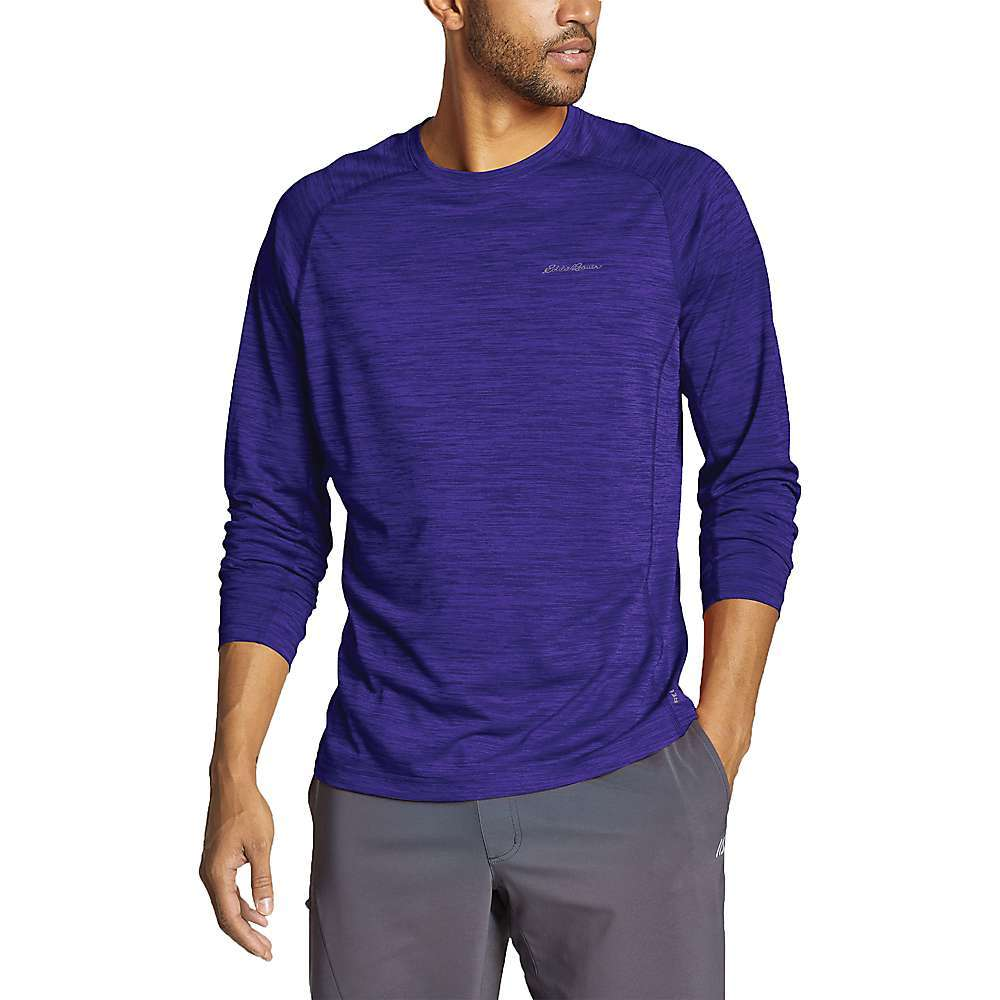 Features of the Eddie Bauer Motion Men's Resolution Short Sleeve Tee Built for active Performance and superior comfort Soft, easy-on-your skin feel that consistently Freedry moisture wicking disperses sweat so your skin feels drier during workouts Freeshade UPF 20 sun protection shields skin Polygiene odor control Raglan sleeve construction for unrestricted mobility Overlock stitching for strength Side arm panels to eliminate chafing Fabric Details 100% Polyester - $23.97