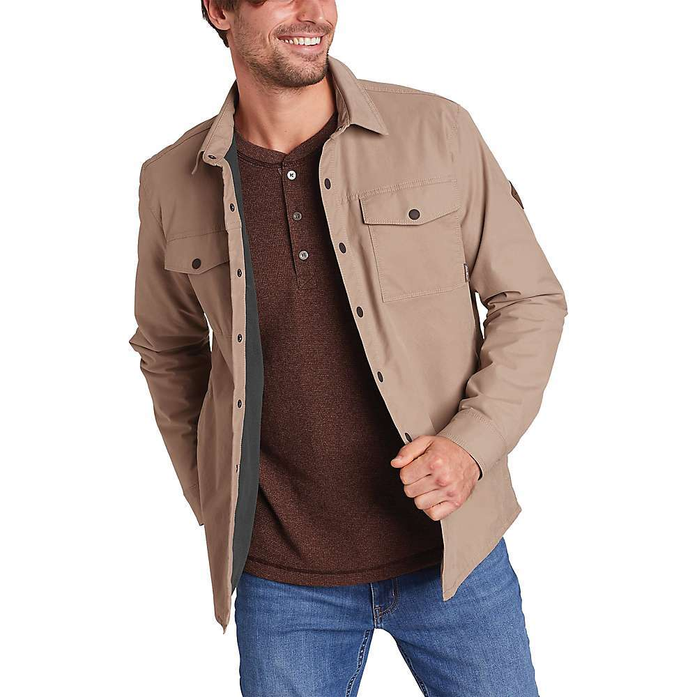 Features of the Eddie Bauer Voyager Fleece Lined Shirt Jacket Two snap-close chest pockets Two welt hand pockets Adjustable snap cuffs Fabric Details 100% Polyester - $71.37