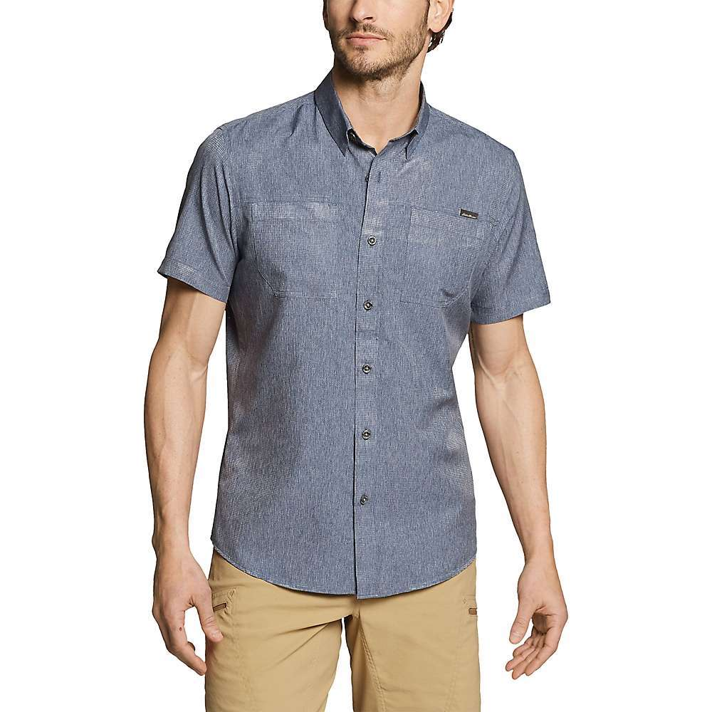 Features of the Eddie Bauer Motion Men's Short Sleeve Ventatrex Guide Shirt FreeDry moisture wicking FreeShade UPF 15 sun protection Polygiene odor control Two chest pockets Fabric Details 100% Polyester - $41.97
