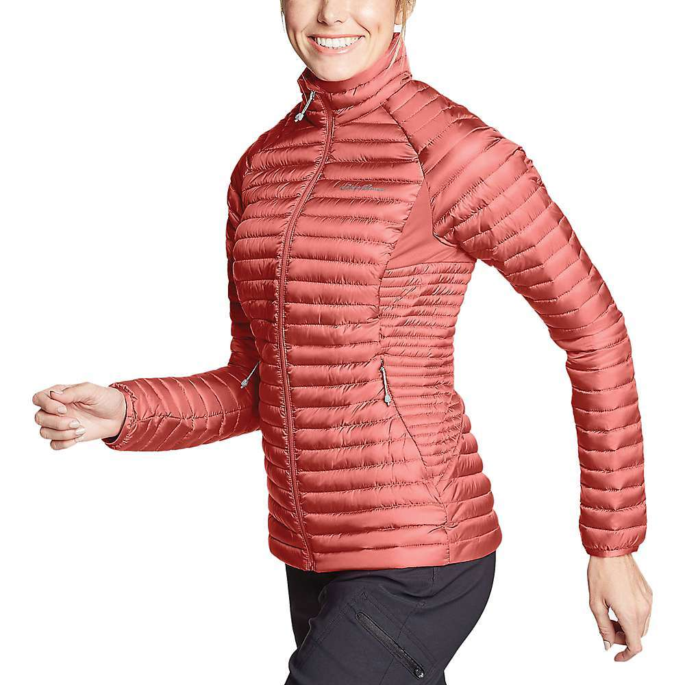 Features of the Eddie Bauer First Ascent Women's Microtherm 2.0 Stormdown Jacket 100% polyester (50% recycled) shell; 95% polyester/5% spandex panels Windproof recycled 20D ripstop polyester shell: StormRepel Super DWR is our longest-lasting, moisture-shedding finish Microtherm construction: Streamlined, micro-channel design for maximum thermal efficiency and compressibility Responsible Down Standard (RDS)-certified down Insulation - $137.37