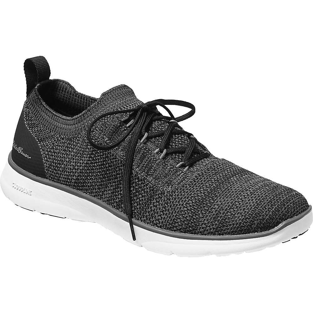 Features of the Eddie Bauer Travex Men's Flexion Cloudline Sneaker Shoe InsoFit Pro ergonomic polyurethane Footbed with stabilizing heel cup and superior forefoot support MidLite premium EVA Midsole SportGrip low-profile carbon rubber Outsole Includes a second set of laces - $59.97