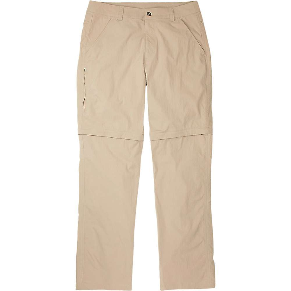 Features of the ExOfficio Men's BugsAway Mojave Convertible Pant BugsAway insect-repelling fabric wards off ticks, mosquitoes and midges Lightweight stretch-nylon is abrasion-resistant and durable Sun protection with an ultraviolet protection factor (UPF) of 30 Gusset at inseam for increased range of motion Ankle zips for easy on-and-off over shoes Converts easily to a 10in. short Security zipper on left tHigh pocket Two hand pockets and two zippered back pockets Fixed waistband Fabric Details 97% Nylon, 3% Elastane, Plain Weave - $121.95